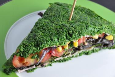 Sandwich hypocalorique aux épinards sans farine