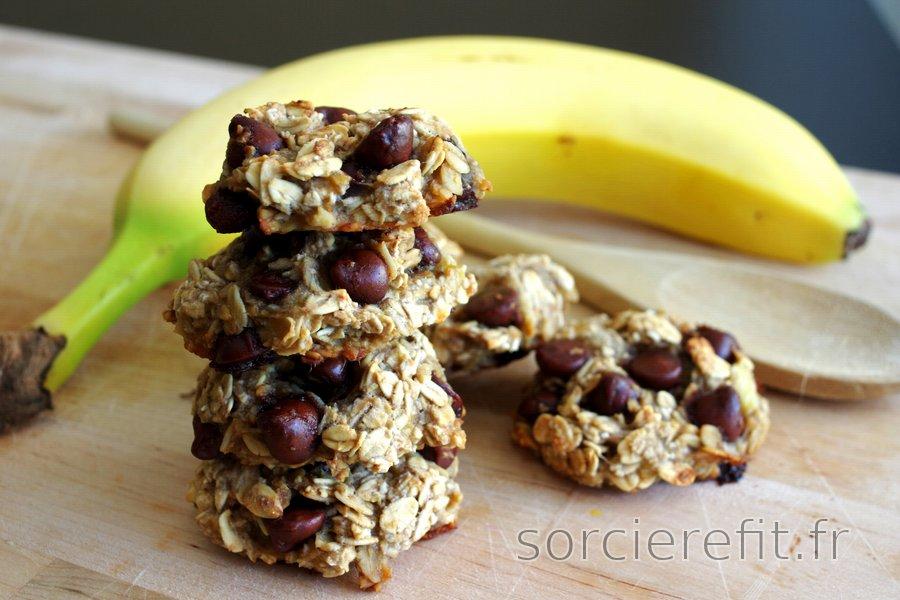 Cookies 3 ingrédients aux flocons d'avoine et banane sans farine, œufs ni sucre
