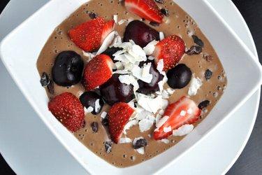Glace équilibrée au cacao (sans gluten ni sucre)