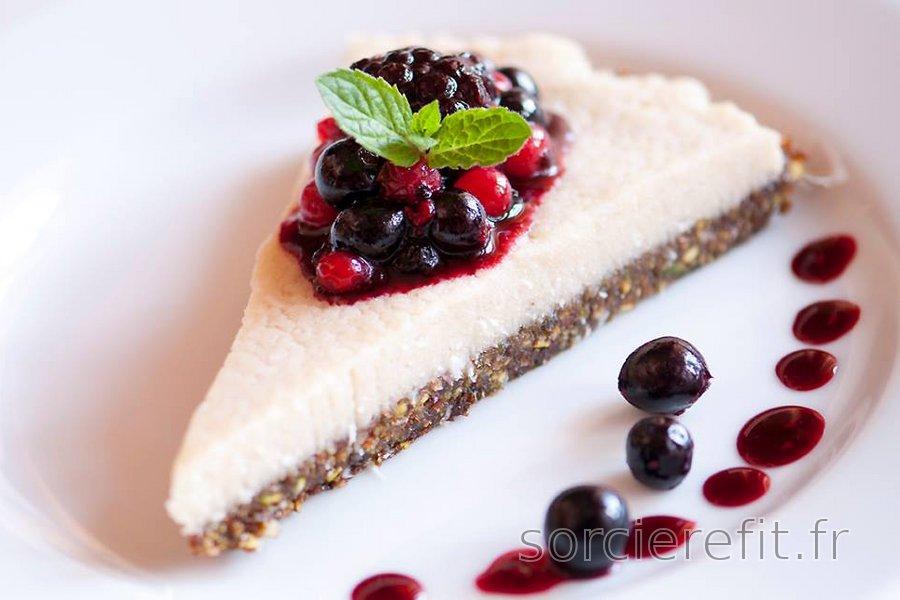 Cheesecake équilibré et végan sans cuisson (sans gluten)