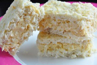 Gâteau à la noix de coco et pudding aux jaunes d'œufs (sans gluten)