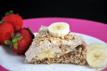 """Gâteau """"Paradis"""" sans cuisson à la banane (sans gluten)"""
