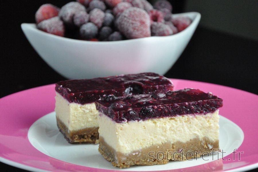 Cheesecake équilibré au yaourt (sans gluten ni sucre)