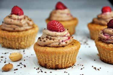 Cupcakes aux amandes et crème noix de cajou/café (sans gluten)