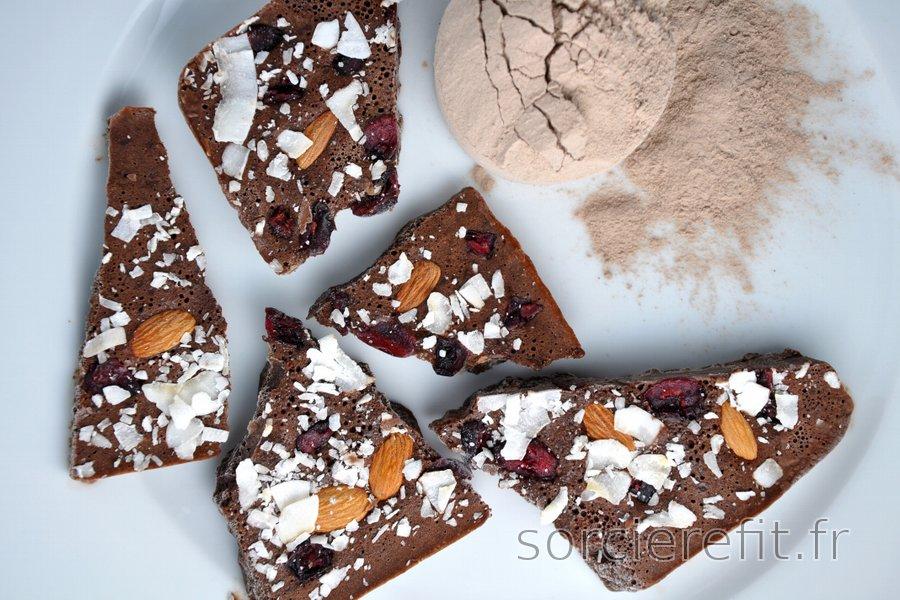 """""""Chocolat"""" protéiné sans sucre"""