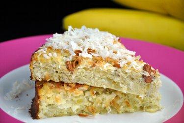 Gâteau sain noix de coco-banane (sans sucre ni gluten)