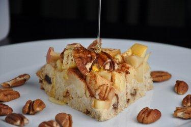 Gâteau aux pommes et flocons d'avoine (sans farine ni gluten)