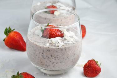 Overnight Oats sains aux fraises