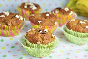 Muffins sains à la banane et aux flocons d'avoine