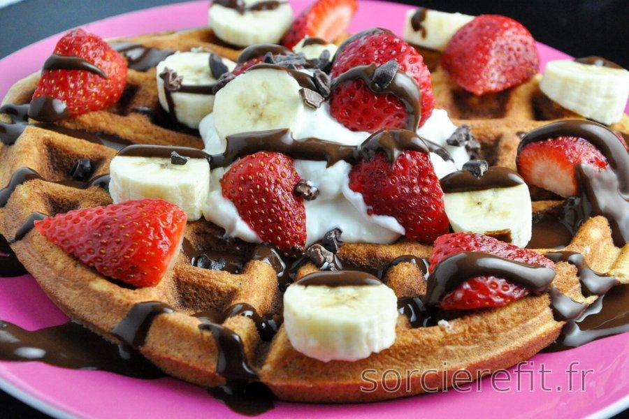 Gaufres/pancakes protéinés sans gluten