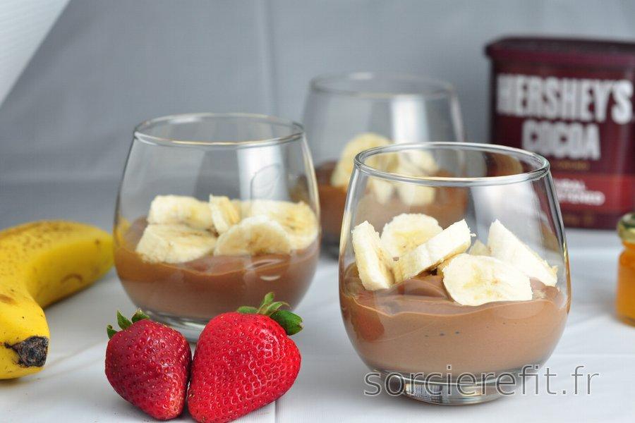 Pudding sain à la banane et au chocolat
