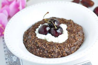 Porridge de quinoa, café et cacao