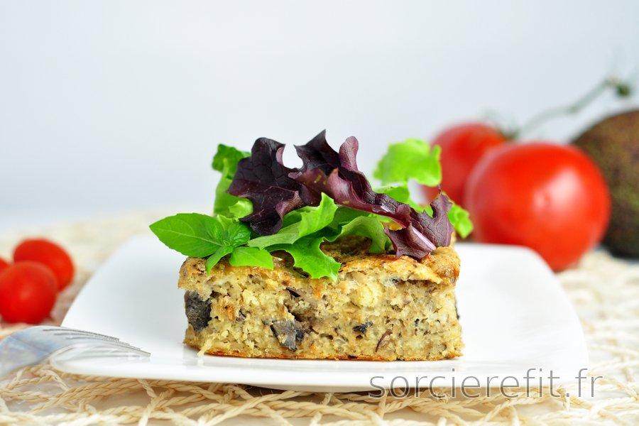 Millet au four avec des champignons et des sardines