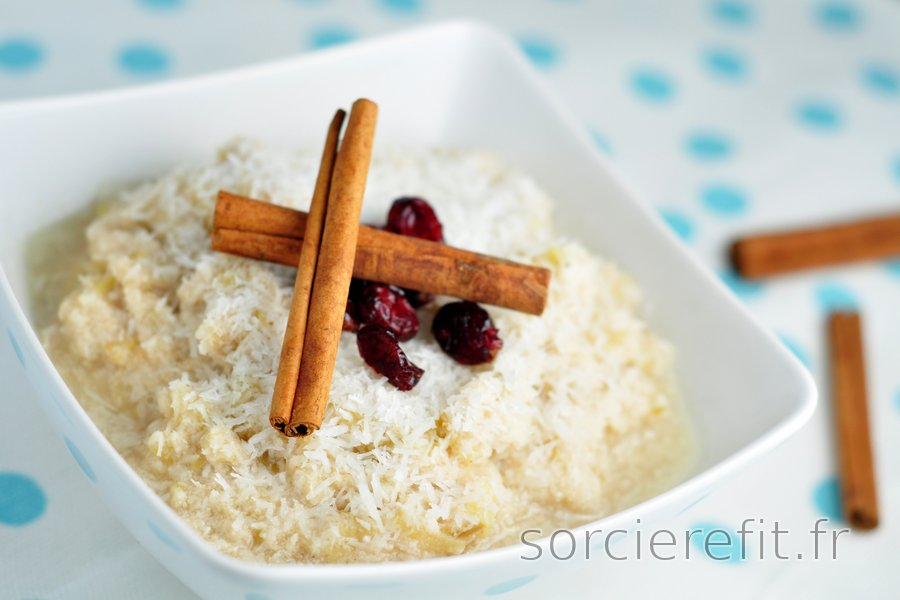 Porridge Santé Pomme-Coco (Sans sucre et sans gluten)