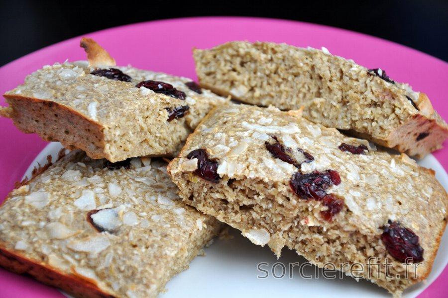 Petit pain protéiné et sain aux flocons d'avoine
