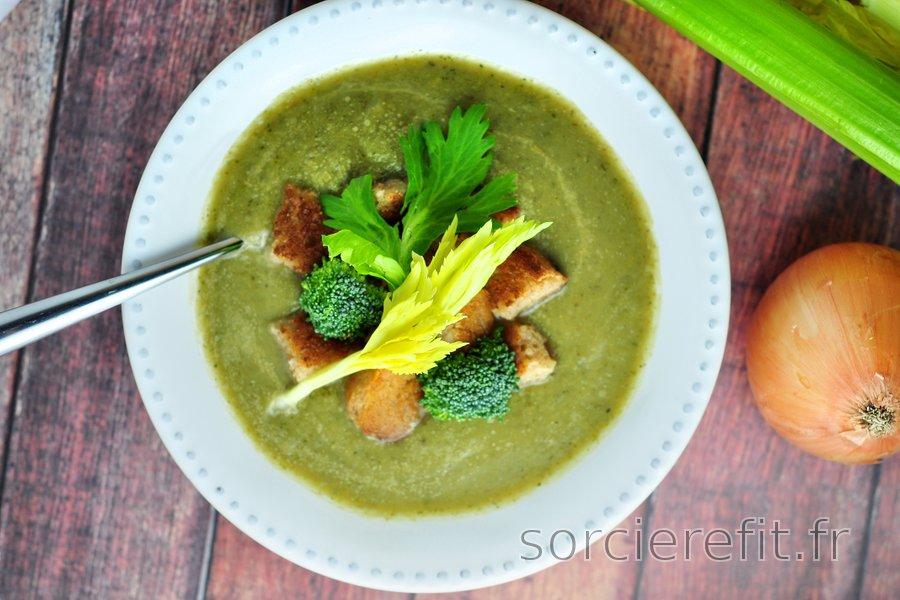 Soupe cèleri et brocoli facile