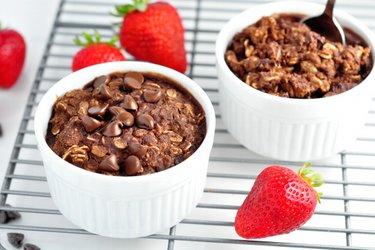 Porridge Brownie au four