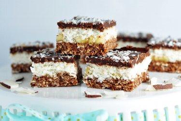 Dessert sans cuisson à la noix de coco et chocolat