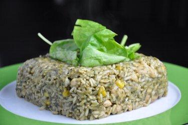 Délicieux risotto aux épinards et poulet