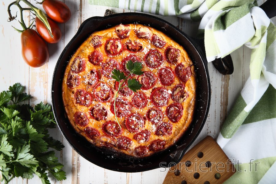 Frittata de tomates low-carb