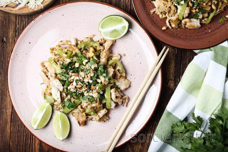 Pad thaï au poulet facile