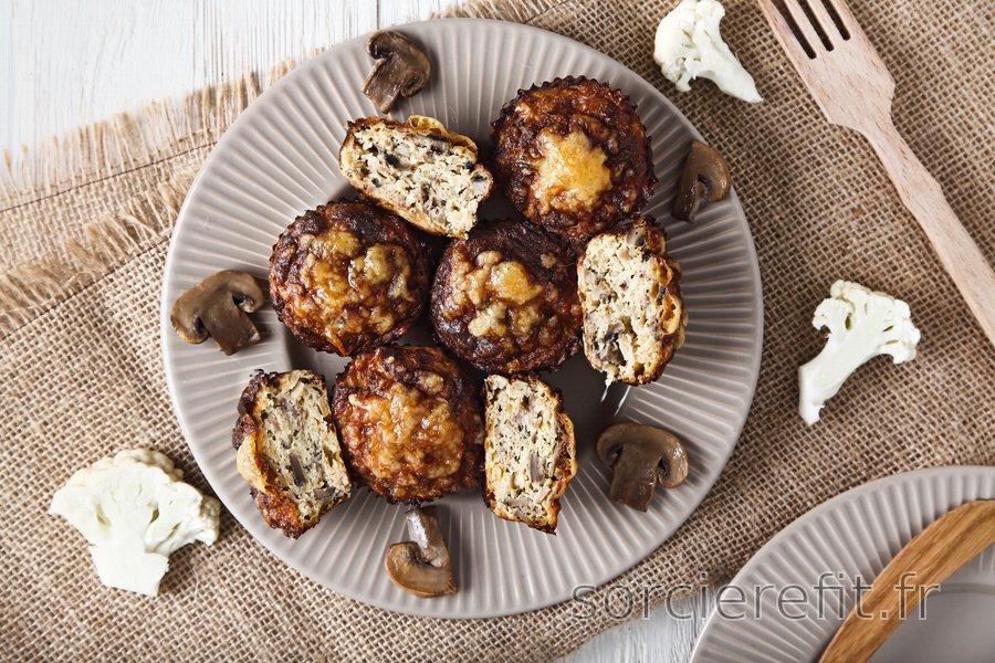 Muffins pizza équilibrés au chou-fleur