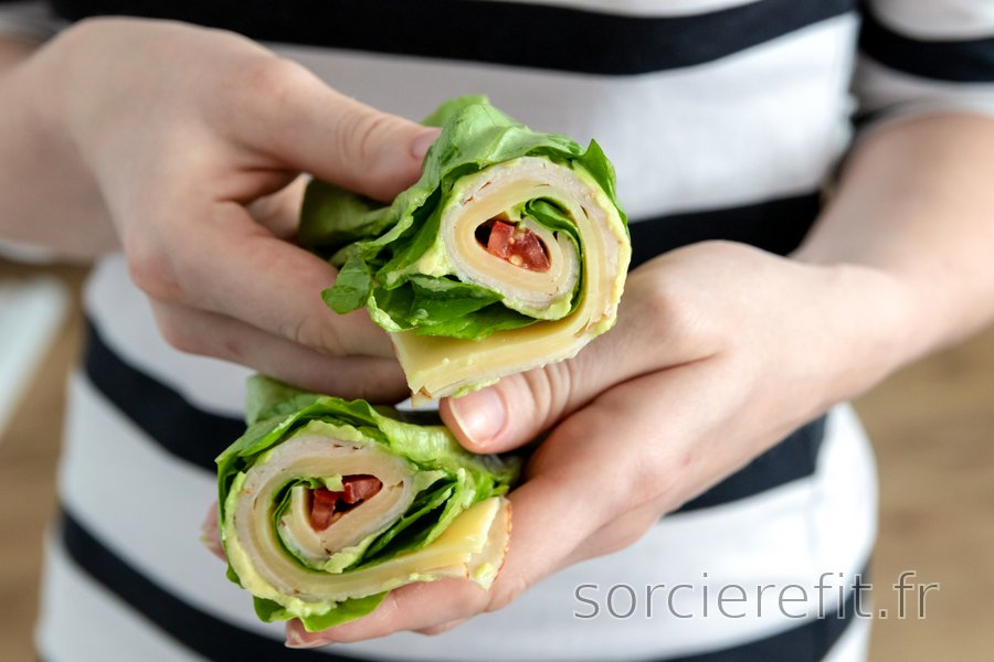 Wrap de laitue low-carb