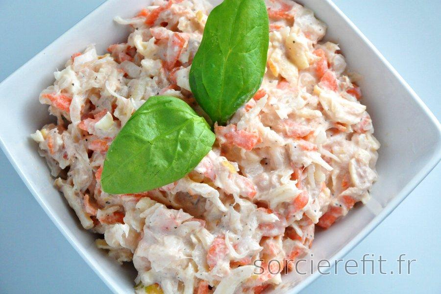 Salade de thon à la choucroute, carotte et pomme