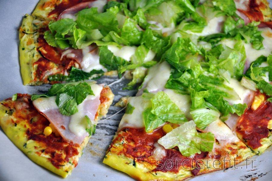 Pâte à pizza saine à la courgette | sorcierefit.fr