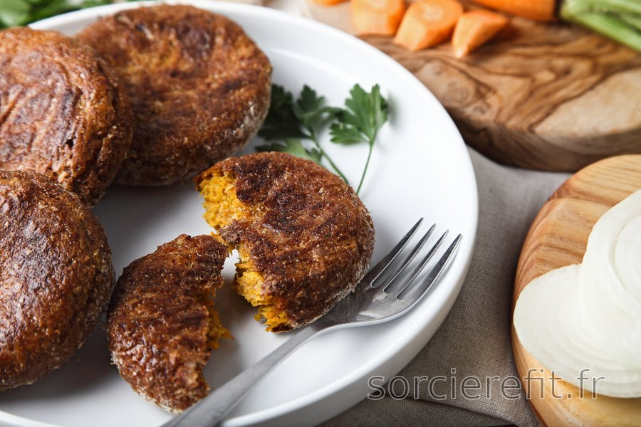 Galettes équilibrées à la carotte cuites au four