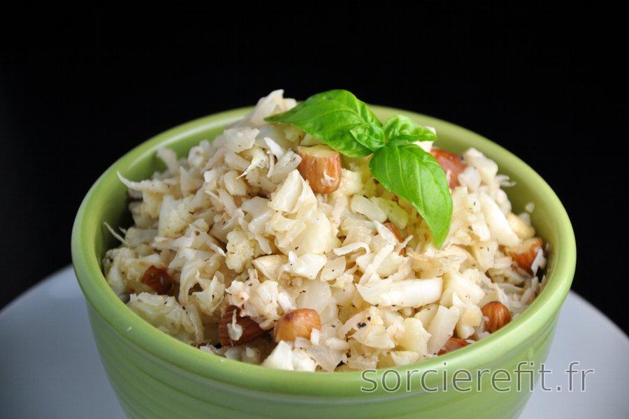 """""""Risotto"""" sans riz à la noix de coco et chou-fleur"""