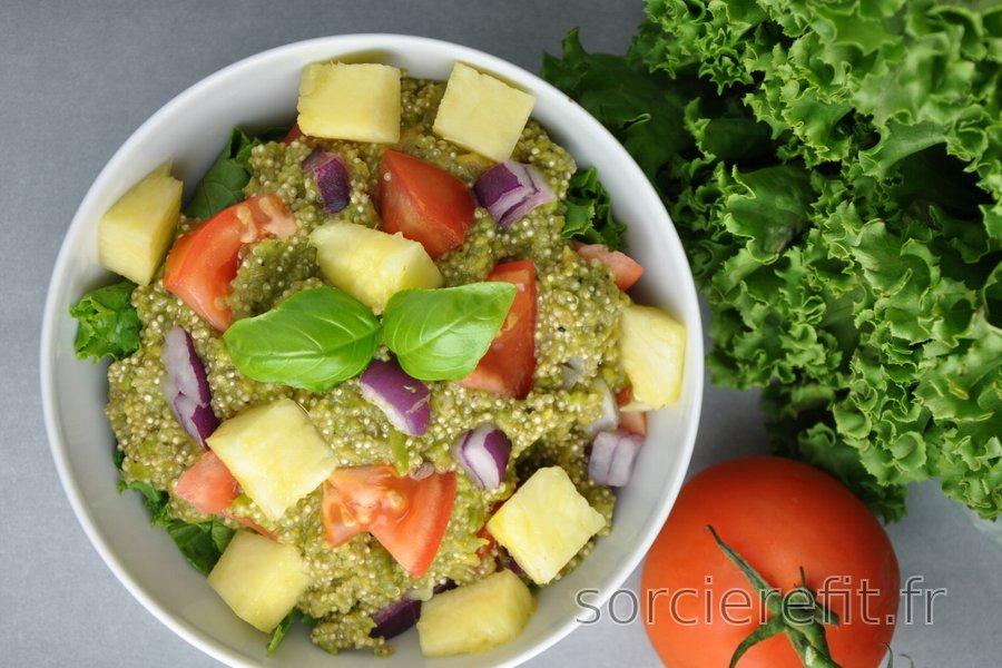 Quinoa au guacamole