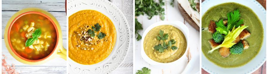 Recettes de soupes pauvres en calories pour perdre du poids