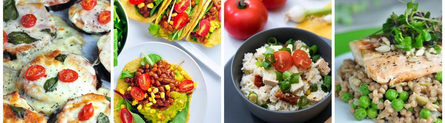 Recettes simples et saines de dîners et de déjeuners