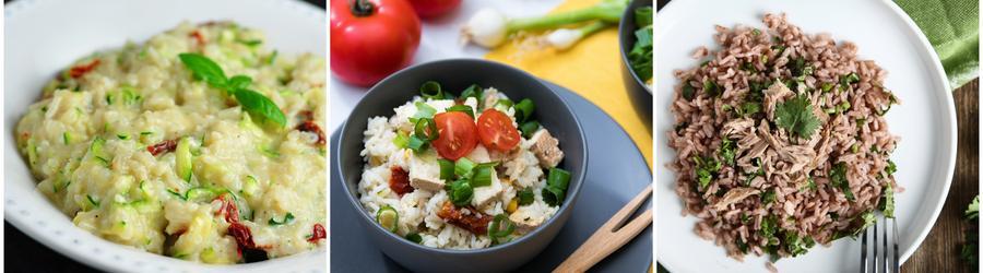 Recettes à base de riz riches en protéines