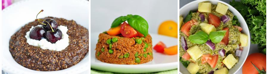 Recettes santé au quinoa sans gluten