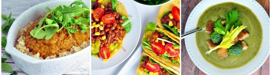 Recettes aux légumes vegan