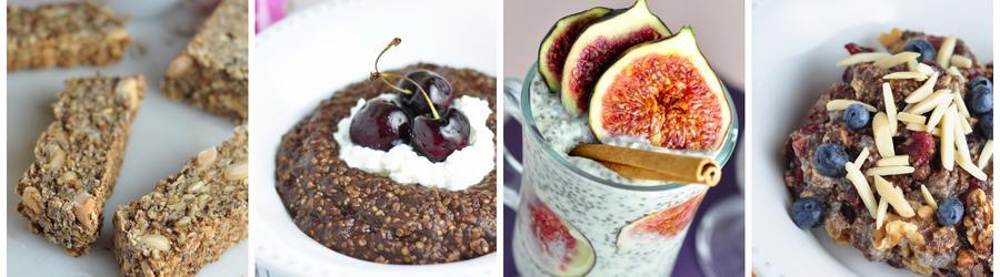 Recettes santé de petits-déjeuners à base de graines de chia