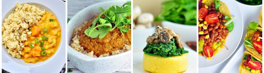 Recettes santé de dîners et déjeuners végan