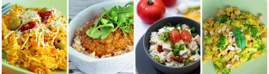 Recettes santé de dîners et de déjeuners à base de riz