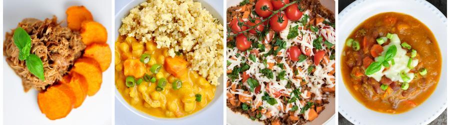 Recettes santé de dîners et de déjeuners à base de patate douce