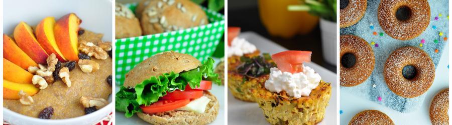 Recettes santé de petits-déjeuners sans oeufs