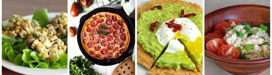 Recettes santé de petits-déjeuners à base d'oeuf