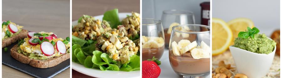 Recettes santé de petits-déjeuners à base d'avocat