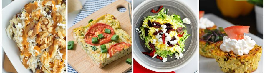 Recettes santé de petits-déjeuners à base de courgette