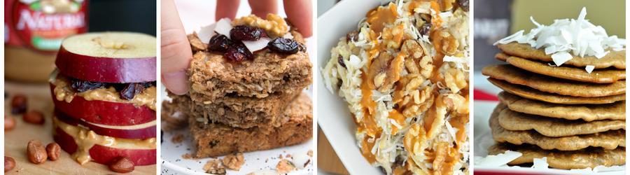 Recettes de petits-déjeuners santé à base de beurre de cacahuètes