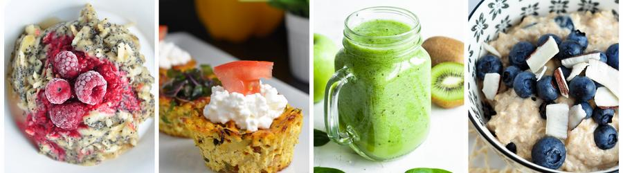 Recettes de petits-déjeuners pauvres en calories