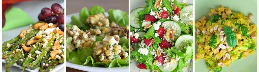 Recettes de salades pauvres en glucides