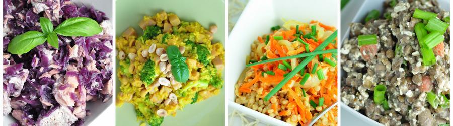 Recettes de salades pauvres en matières grasses
