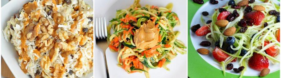 Recettes de salades santé à base de courgettes